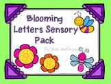 Blooming Letters Sensory Bin