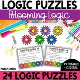 Distance Learning Blooming Logic Problem Solving {Logic Puzzles}