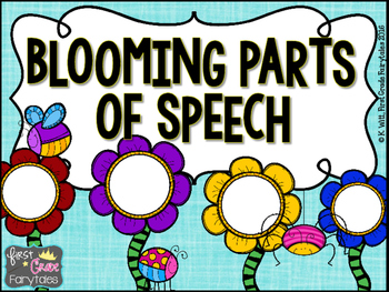 Blooming Parts of Speech Center: Nouns, Verbs and Adjectives