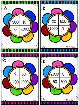 Blooming Place Value - 4 Digits - Color Set