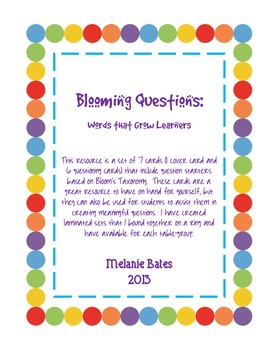 Blooming Questions - Cards for Creating Meaningful Questions