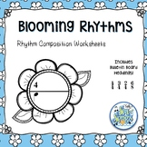 Blooming Rhythms - Rhythm Composition Worksheets & Bulleti