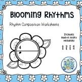 Blooming Rhythms - Rhythm Composition Worksheets & Bulleti
