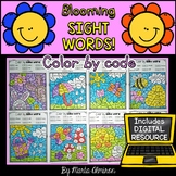 Blooming SIGHT WORDS {Color by code and Digital Resource}