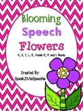 Spring Speech Articulation Flowers K, G, F, L, R, Blends, and more!