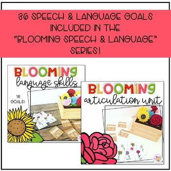 Blooming Speech & Language Talk Box Printable