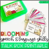 Blooming Speech & Language Talk Box Printable