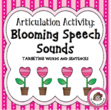 Articulation Activity:  Blooming Speech Sounds - Words and Sentences