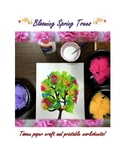 Blooming Spring Trees- Craft and Printable Worksheets