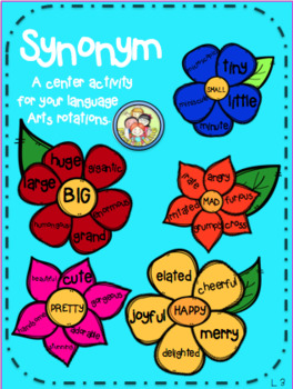 Blooming Synonyms!- A Language Arts Center