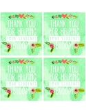 Blooming Teacher Appreciation Tags