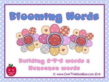 Blooming Words CVC & Nonsense Words Game