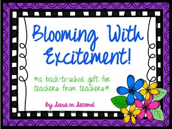Blooming with Excitement about Back-to-School