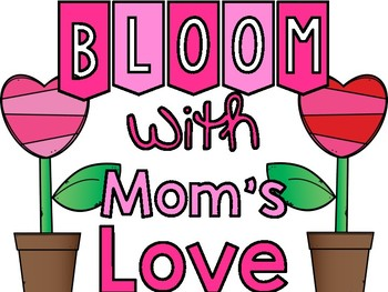 Blooming with Mom's Love-Art Display Sign