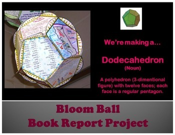 Bloom's Ball Novel Book Report Project