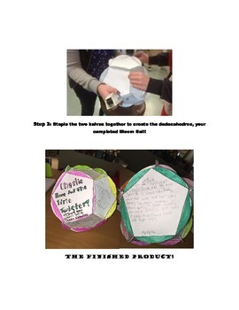 Bloom's Ball Project (12 days)-  *No Prep Minilessons and Printables**
