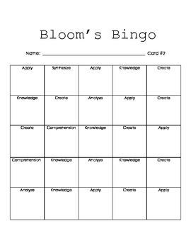 Bloom's Bingo