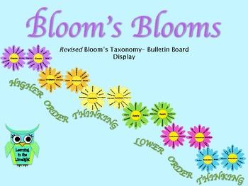 Bloom's Blooms: Revised (new) Bloom's Taxonomy Bulletin Board Set
