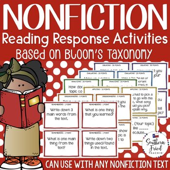 Bloom's Nonfiction Reading Activities with Critical Thinking