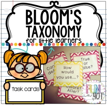 Bloom's Taxonomy Task Cards and Activities For Primary Grades