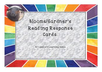 Blooms/Gardner's Non Fiction Reading Response Cards.