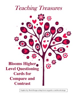 Blooms Higher Level Questioning Cards for Compare and Contrast