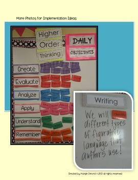 Bloom's Higher Order Daily Objectives Bulletin Board