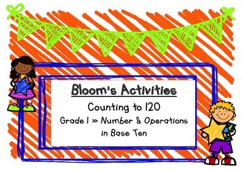 Blooms Math Counting to 120 Choice Board
