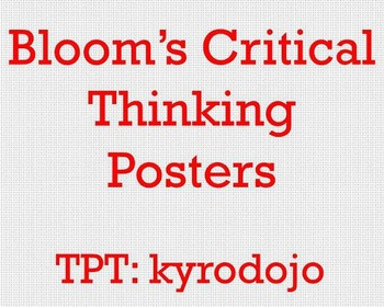 Bloom's Posters