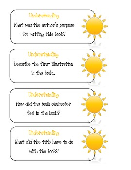 Bloom's Question Cards for Guided Reading
