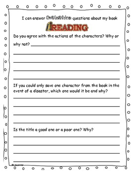 Bloom's Questioning Book Report