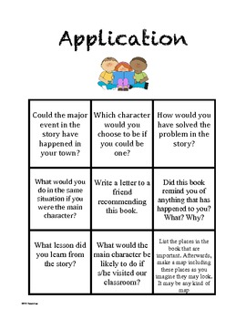 Bloom's Questioning Choice Cards