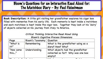 Interactive Read Aloud - The Matchbox Diary by Paul Fleischman