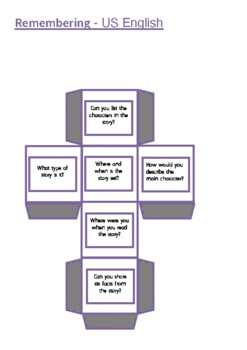 Bloom's Reading Cubes