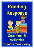 Blooms Reading Response Questions & Activities {Promote Hi