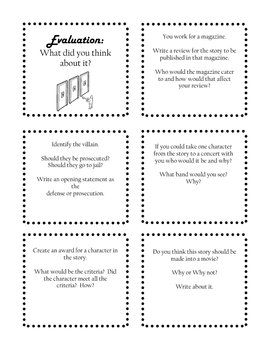 Bloom's Task Cards