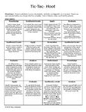Bloom's Taxonomy Activity to Novel Hoot by Carl Haaisen