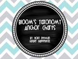 Bloom's Taxonomy Anchor Charts with Verbs- Chevron and Chalkboard
