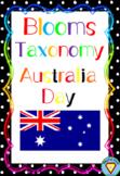 Blooms Taxonomy Australia Day Activities