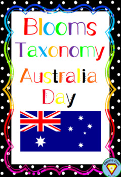 Blooms Taxonomy Australia Day Activities