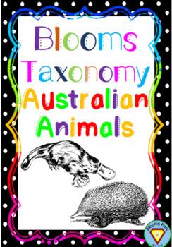 Blooms Taxonomy Australian Animals Activities