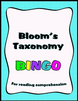 Bloom's Taxonomy BINGO for Reading  Comprehension