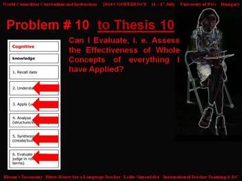 Bloom's Taxonomy: Bitter Honey for a Language Teacher - Problem # 10