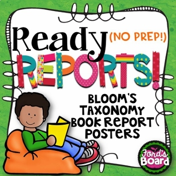 Bloom's Taxonomy Book Report Posters
