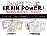 Bloom's Taxonomy {Brain Power} Posters and Student Printables!