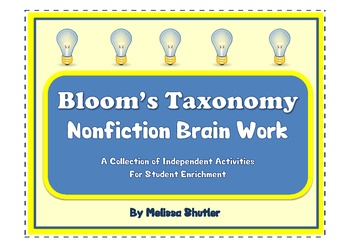 Bloom's Taxonomy Brain Work Full Pack