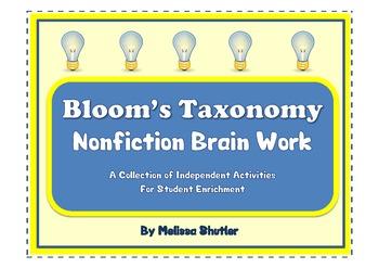 Bloom's Taxonomy Brain Work Full Pack