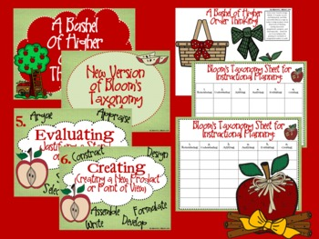 Apple Bloom's Taxonomy Class Posters (A Bushel of Higher Order Thinking!)