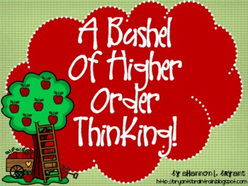 Apple Bloom's Taxonomy Class Posters (A Bushel of Higher O