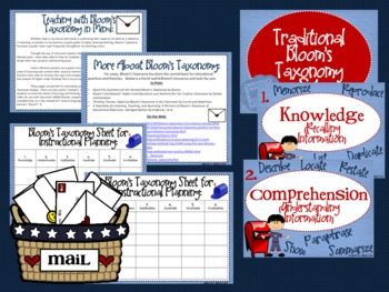 "Mail Bloom's Taxonomy Class Posters (""Delivering"" Higher Order Thinking!)"